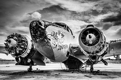 Lockheed PV-2 gone forever (DST-photography) Tags: phoenix douglas dc6 aircraft old airplane plane planes airplanes wreck gila river indian native american black white chandler arizona usa glory desaturated airport airpark landing take off goodyear holiday travel people photo boeing airbus aviation flightdeck cockpit stick me rural national mono hiking travelling bw boneyard graveyard