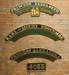 RD14432.  Castle Nameplates. (Ron Fisher) Tags: nameplate numberplate steam swindon gwr museum greatwesternrailway steammuseum swindonworks
