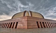 Pakistan Monument,Islamabad (atifmanzoor) Tags: landscape clouds pakistan islamabad monument sunset