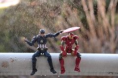 The Apology (Pete Tapang) Tags: captain america spiderman spider man antman ant deadpool comics marvel civil war wade wilson steve rogers tony stark toy action figure figuarts figma revoltech toys figurine poseable japanese funny humor comedy cinematic