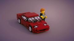 Nissan 300 ZX (ron_dayes) Tags: nissan 300 zx lego 1989 2000 sportscar 90 ies