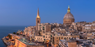 Panorama of Valletta Skyline in the Evening, Malta