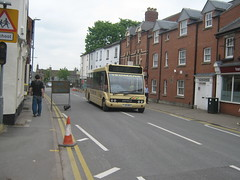 Yeomans Optare Solo YJ55BHZ (wyedevon) Tags: city bus centre herefordshire hereford diversion