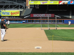 Citi Field, 05/16/13: looking directly along the line from third base to second base (IMG_0859) (Gary Dunaier) Tags: newyorkcity baseball stadiums queens mets queensborough newyorkmets queensboro ballparks flushing stadia queenscounty citifield