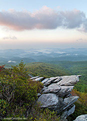 Across The Blue Ridge (Daniel Burleson) Tags: fog sunrise spring northcarolina western appalachian blueridgeparkway wnc grandfathermountain roughridge blueridgemountians