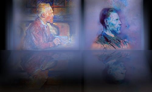 """Mentores, homenaje a Vincent van Gogh de Henri de Toulouse Lautrec (1887), y al padre de Pablo Picasso (1896). • <a style=""""font-size:0.8em;"""" href=""""http://www.flickr.com/photos/30735181@N00/8805096295/"""" target=""""_blank"""">View on Flickr</a>"""