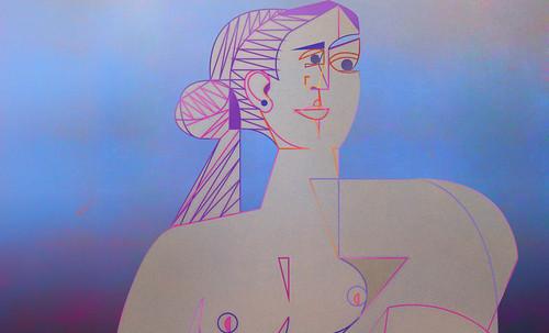 "Mujer Sentada, geometrización de Pablo Picasso (1953), abstracción de Roberto Real de León (2013). • <a style=""font-size:0.8em;"" href=""http://www.flickr.com/photos/30735181@N00/8815929180/"" target=""_blank"">View on Flickr</a>"