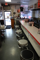 Lunch Counter (Flint Foto Factory) Tags: city morning red urban food white black coffee saint st shop marilyn vintage tampa restaurant bay am spring cafe downtown neon florida central may saturday diner petersburg spoon monroe pete americana greasy centralave eatery 501 shoppe 2013