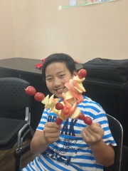 fruit kabobs!! (brendan gibson) Tags: china boy apple fruit asia chinese harry inner mongolia kabobs prc 4s iphone innermongolia hohhot appleiphone4s