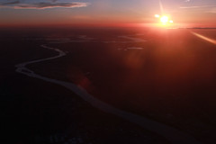 Up in the Air (Steve McCord) Tags: sunset oklahoma lens airplane whacking