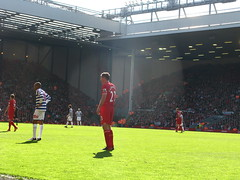 Jamie Carragher stands guard in the second half (kersalflats) Tags: club liverpool football jamie stadium reds mighty qpr anfield lfc carragher