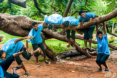 The Jump (V.T.Arun ram kumar) Tags: happy jump sad emotion character multiple persons dull combinations energetic