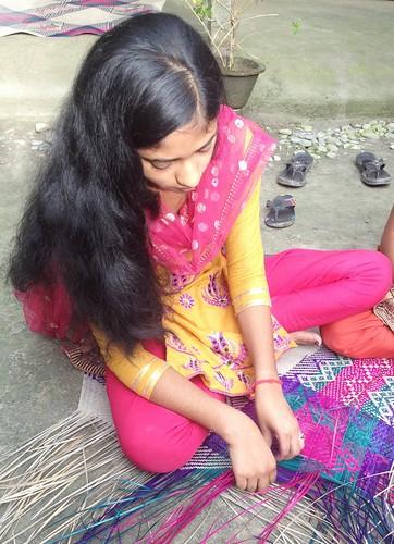 Knitting Sitalpati mat