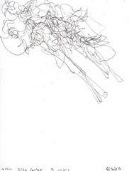 2013.06.30 Blind Contour: 3 Roses (Julia L. Kay) Tags: sanfrancisco roses woman art female sketch san francisco artist hand arte julia blind kunst kay daily dessin line peinture 365 everyday pure dibujo contour artista artiste künstler juliakay julialkay