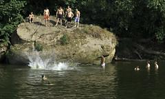 Symonds Yat (stevedexteruk) Tags: west swimming river diving bathing splash yat symonds wye 2013