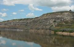 Dinosaur  Valley  ... #Canadian Badlands (Mr. Happy Face - Peace :)) Tags: drumheller alberta canada reddeerriver waterscapes rivervalley southernalberta mrhappyface flickrfriends travelalberta sky hills cans2s albertabound