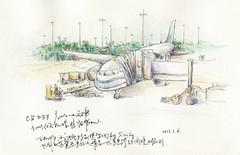 Taking Off (Odding Wang) Tags: china city urban pen pencil watercolor notebook sketch asia drawing