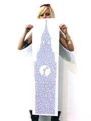 Big Ben Doodle (Tommy Human.) Tags: london clock home illustration print big mix model pointy purple ben or go rich emma bigben tattoos doodle massive blonde jacobs detailed a0