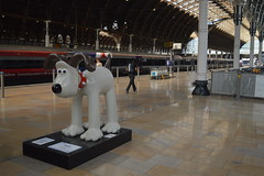 No. 80: Gromit by Aardman (CoasterMadMatt) Tags: city uk greatbritain summer england sculpture london art english westminster station statue train photography town artwork model photos unitedkingdom britain district interior south united capital great models statues railway kingdom august east railwaystation photographs trainstation gb paddington borough british inside southeast gromit paddingtonstation aardman unleashed capitalcity cityofwestminster 2013 gromits coastermadmatt gromitunleashed