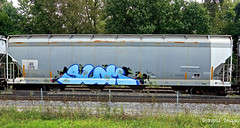 Slom (INTREPID IMAGES) Tags: street railroad color art train bench graffiti fan paint steel painted sony tracks rail railway trains tags images railcar intrepid writer boxcar graff grab hopper freight rolling gr8 paintedtrains fr8 benching slom intrepidimages