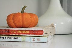 Currently Reading (Honey Loaf) Tags: pumpkin books thecatcherintherye theperksofbeingawallflower