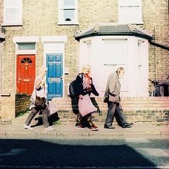 Abbey Pavement (samsamsammeh) Tags: street uk cambridge 6x6 xpro xprocess fuji cross unitedkingdom crossprocess united kingdom bronica fujifilm 100 sq provia