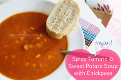 Recipe - Spicy Tomato and Sweet Potato Soup with Chickpeas (Carina  Polka & Bloom) Tags: cooking recipe soup vegan