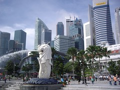 Merlion Singapore Offices (Bootnecks) Tags: singapore marinapark marinabay merlionpark singaporemerlion singaporeoffices