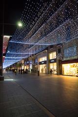 Plafond d'toiles, rue Alsace Lorraine (Toulouse) (maximeraphael) Tags: night lumix lights lumire panasonic toulouse g3 soir nuit clairage 1442mm