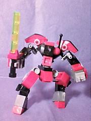 Red Hunter #2 (Jandyman) Tags: red robot energy lego weapon sword scifi blade custom android mecha droid bot mech microscale mfz constructionblocks mobileframe mobileframezero