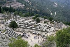 Delphi:  site view (MCAD Library) Tags: delphi mcad templeofapollo architecturalphotography sacredway mountparnassus minneapoliscollegeofartanddesign mcadlibrary theaterofapollo architecturalandcityplanning allantkohl