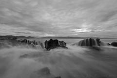 Flow (Jokoleo) Tags: motion beach rock stone wave move silence serenity serene lonely tranquil tanjung karang layar banten