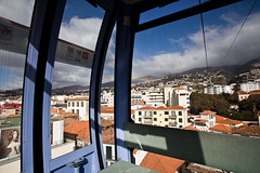 Funchal (Gonçalo_Ferreira) Tags: travel iris portugal car island rainbow janeiro january cable vista isle madeira arco ilha funicular viajar teleferico região 2014 autónoma arquipélago macaronésia 5dmkii