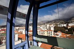 Funchal (Gonalo_Ferreira) Tags: travel iris portugal car island rainbow janeiro january cable vista isle madeira arco ilha funicular viajar teleferico regio 2014 autnoma arquiplago macaronsia 5dmkii