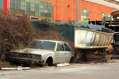 Fiat 130 Coup Pininfarina (Alessio3373) Tags: abandoned rust fiat rusted scrapyard scrap abandonment rustycars abandonedcar abandonedcars scrapyards scrappedcar fiat130 scrappedcars 130coup fiat130coup