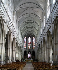The nave of the cathedral (Cathdrale Saint-Louis de Blois), Blois, France (Hunky Punk) Tags: france gothic churches cathedrals cathdrale saintlouis blois naves