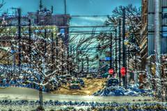 A_Winters_Blast_051 (Mark Stumme) Tags: road trees winter sky snow clouds effects nikon midwest factory bluesky iowa heartland how blizzard hdr inmotion breadbasket d600 middleamerica cornbelt nikond600 hdrscene luminancehdr darktable