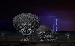 V.L.A (Donald Palansky Photography) Tags: longexposure storm newmexico weather night clouds radio dish sony alien ufo aliens contact lightning alpha seti et professionalphotographer vla listen fineartphotography slowshutterspeed verylargearray sonydslra700 astronomicalradioobservatories donaldpalansky searchforextraterrestrialinteligence
