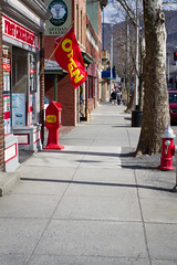 Open (southfordleft) Tags: street new york ny canon real store downtown open estate flag main sidewalk 7d stores beacon 1740f4