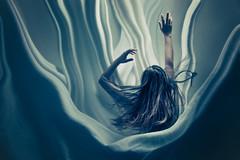 Consuming Sleep (megscapturedtreasures) Tags: girl reaching sleep sheets falling reach surrounded drowning consumed