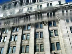 Les temps sont flous, les gens sont fous (Robert Saucier) Tags: sky blur building window architecture montral quebec montreal ciel qubec flou fentres sunlifebuilding img5307 lanzmann lesgenssontfous lestempssontflousjacques dutroncdutroncjacques