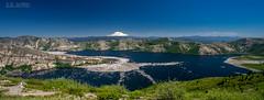 Mt Adams over Spirit Lake (Jutaika) Tags: mountain lake water landscape adams scenic panoramic washingtonstate mtsthelens cascaderange spiritlake