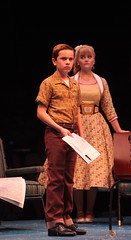 Hunter Clary as Randolph MacAfee and Amanda Jane Cooper as Kim MacAfee in Bye Bye Birdie, produced by Music Circus at the Wells Fargo Pavilion July 7-12, 2015. Photo by Charr Crail.