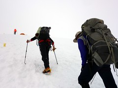 """Approaching Camp 3 • <a style=""""font-size:0.8em;"""" href=""""http://www.flickr.com/photos/41849531@N04/20457473225/"""" target=""""_blank"""">View on Flickr</a>"""