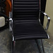 Ribbed leatherette chair ex demo E60