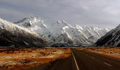 Mount Sefton. Mt Cook NP. NZ (Bernard Spragg) Tags: newzealand lumixfz200 alps mountsefton road highway scenery landscape nationalpark aorakimountcook geotagged