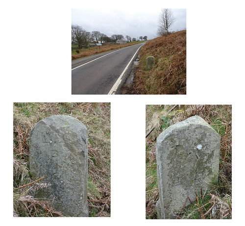 Boundary Stone, Mountain Air, Mountain Road, Upper Cwmbran 1 March 2017