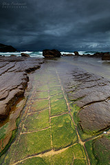 Whale Beach Storm (-yury-) Tags: storm darkclouds sea ocean rocks texture cracks rockshelf beach whalebeach sydney nsw australia seascape