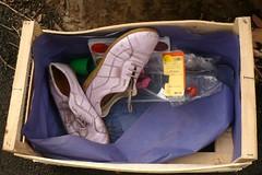 (mistigree) Tags: toulouse chaussure cageot objettrouvé