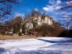 Hill near Oberaudorf, Bavaria, Germany (UweBKK (α 77 on )) Tags: bavaria bayern germany deutschland austria österreich tyrol tirol hill hügel oberaudorf schnee snow blue sky blauer himmel